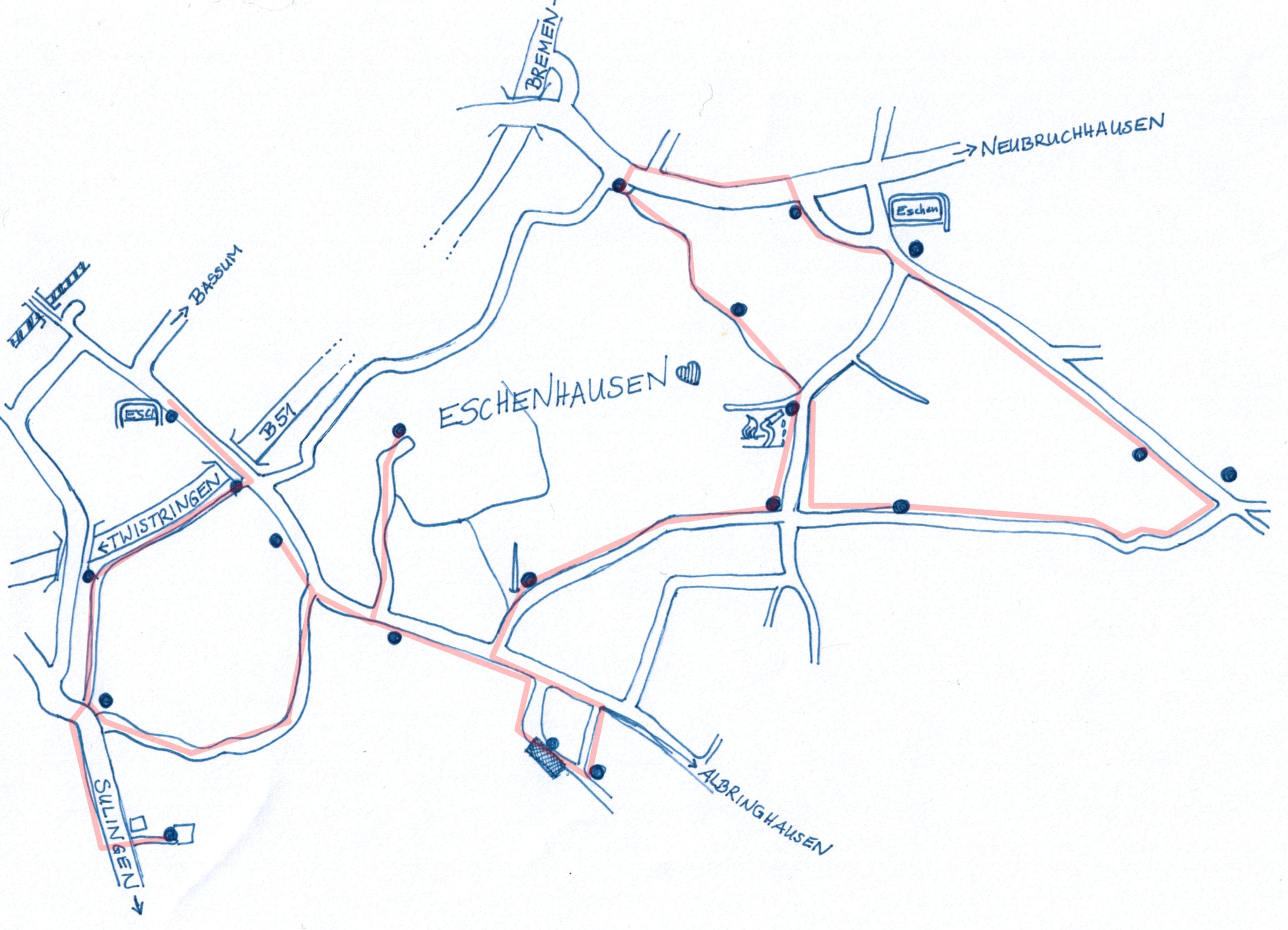 Digitale Schnitzeljagd durch Eschenhausen