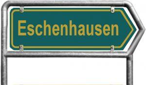Ortsschild Eschenhausen